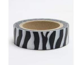 Dekorační lepicí páska - WASHI tape-1ks - zebra