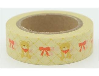 Dekorační lepicí páska - WASHI tape-1ks medvídci