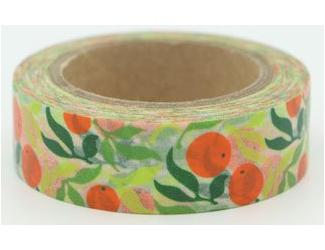Dekorační lepicí páska - WASHI pásky-1ks -pomeranče