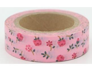 Dekorační lepicí páska - WASHI pásky-1ks - malinkaté růžičky