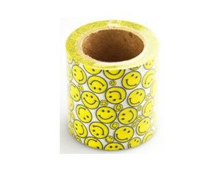 Dekorační lepicí páska - WASHI pásky -1ks smajlíci 10 m x 50 mm