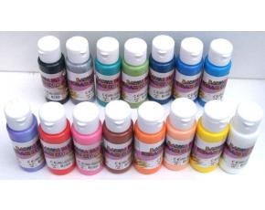 Barva na sklo, keramiku a kameny  60ml- assort 15 barev
