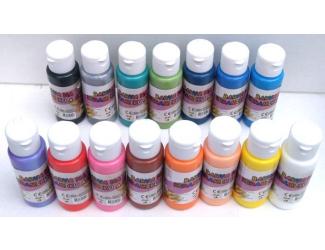 Barva na sklo a keramiku 60ml- assort 15 barev