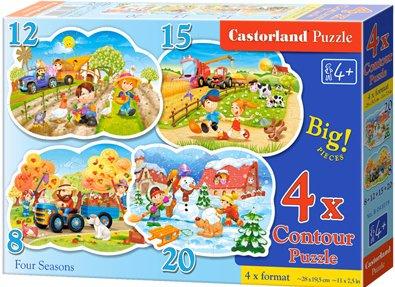 Puzzle Castorland sada 4v1 - Roční období- 8,12,15,20 dílků