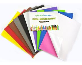 Pěnovka samolepicí- 10 ks, mix barev, A4 - cca 2 mm