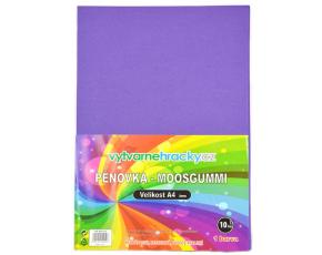 Pěnovka- fialová, 10 ks, A4 - cca 2 mm