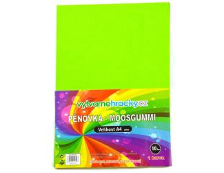 Pěnovka- světle zelená, 10 ks, A4 - cca 2 mm