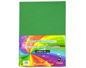 Pěnovka-tmavě zelená, 10 ks, A4 - cca 2 mm