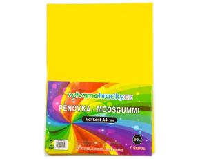 Pěnovka-žlutá, 10 ks, A4 - cca 2 mm