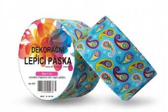Dekorační lepicí páska - DUCT TAPE-1ks ornament v tyrkysové