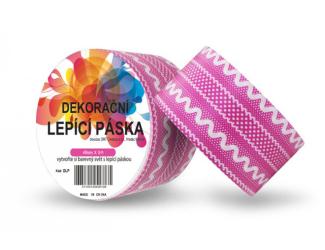 Dekorační lepicí páska - DUCT TAPE-1ks růžová krajka