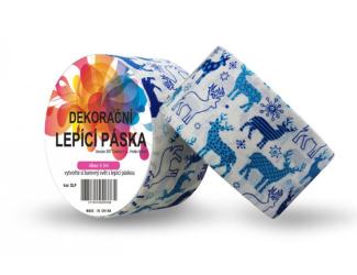 Dekorační lepicí páska - DUCT TAPE-1ks modří sobi