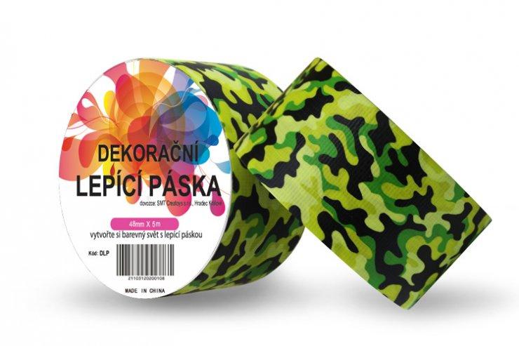 Dekorační lepicí páska - DUCT TAPE-1ks vojenská zelená