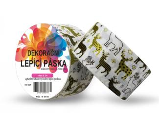 Dekorační lepicí páska - DUCT TAPE-1ks zlatí sobi