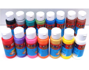 Akrylová barva 60ml- assort 15 barev