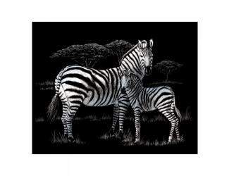 Vyškrabovací obrázek- Zebry