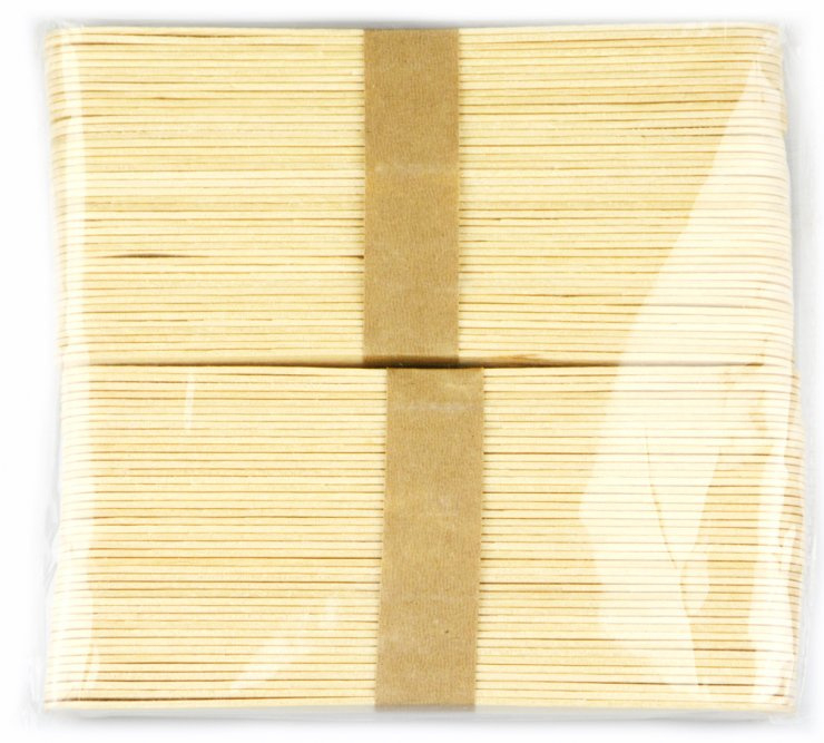 Špachtle přírodní 80 ks - 150x18x1,5mm