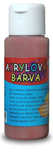Akrylová barva 60ml- hnědá