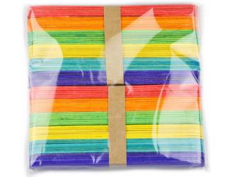 Špachtle barevné, 80 ks - 150 x 18 x 1,5 mm