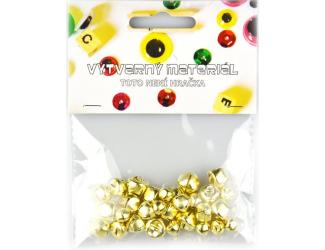 Zlaté rolničky, 30 ks, 8, 10, 12 mm