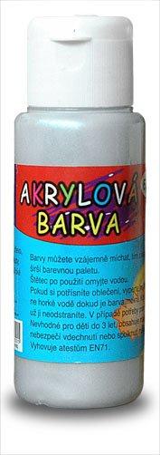 Akrylová barva 60ml- stříbrná