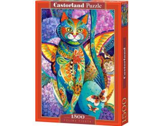 Puzzle Castorland 1500 dílků - Malovaná kočka