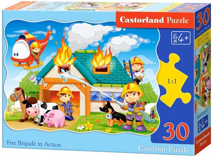 Puzzle Castorland 30 dílků - Hasiči v akci