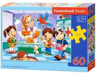 Puzzle 60 dílků - U veterináře