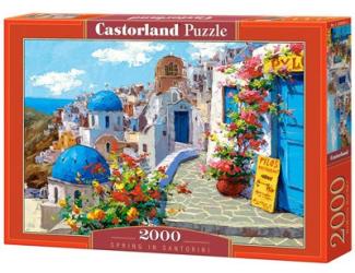 Puzzle 2000 dílků- Jaro na Santorini