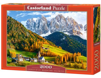 Puzzle Castorland 2000 dílků - Kostel svaté Magdalény, Dolomity
