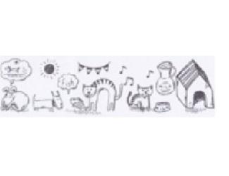 Vykreslovací antistresová dekorační lepicí páska - coloring WASHI tape-1ks pejsci a kočičky