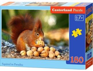 Puzzle 180 dílků - Veverka s oříšky