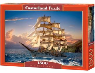 Puzzle Castorland 1500 dílků - Jachta a západ slunce