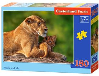 Puzzle 180 dílků - Lvice a lvíče