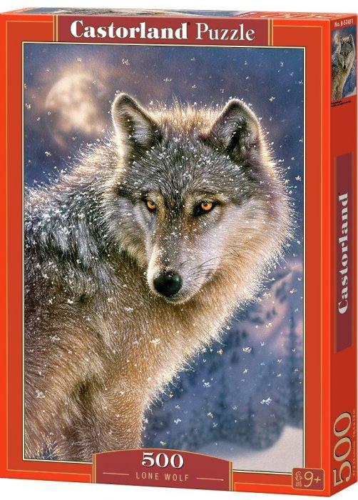 Puzzle Castorland 500 dílků - Osamělý vlk