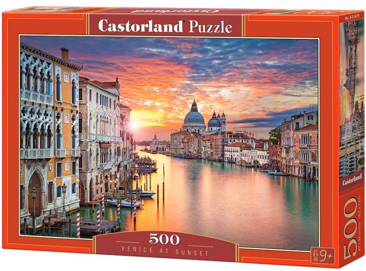 Puzzle Castorland 500 dílků - Benátky a západ slunce