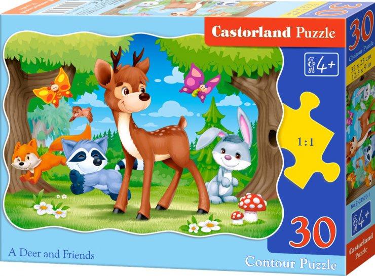 Puzzle Castorland 30 dílků - Koloušek a jeho přátelé