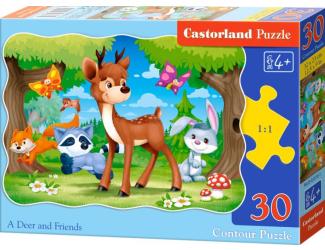 Puzzle 30 dílků - Koloušek a jeho přátelé