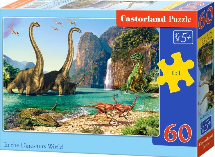Puzzle Castorland 60 dílků - Dinosauří svět
