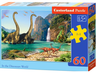 Puzzle 60 dílků - Dinosauří svět