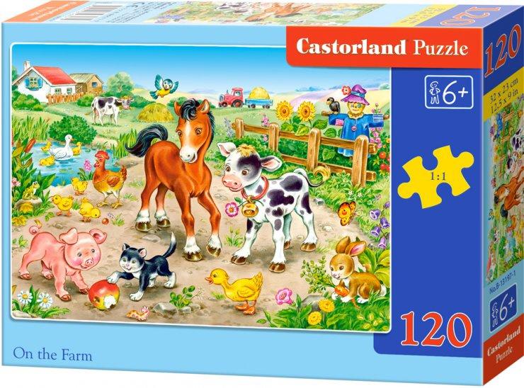 Puzzle Castorland 120 dílků - Na farmě