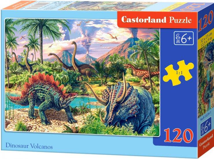 Puzzle Castorland 120 dílků - Dinosauří vulkán