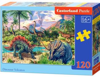 Puzzle 120 dílků- Dinosauří vulkán