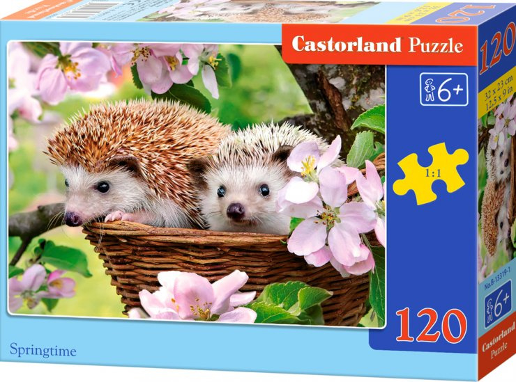 Puzzle Castorland 120 dílků - Ježečci