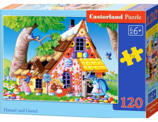 Puzzle 120 dílků- Jeníček a Mařenka
