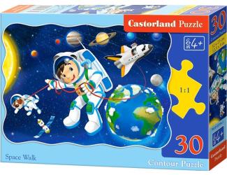 Puzzle 30 dílků - Vesmírná chůze