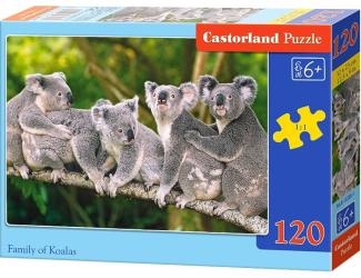 Puzzle 120 dílků- Koaly