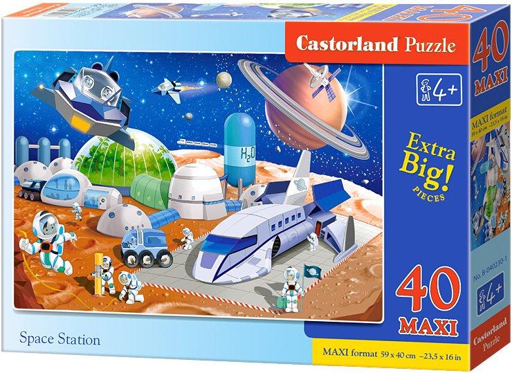 Puzzle Castorland MAXI 40 dílků - Vesmírná stanice