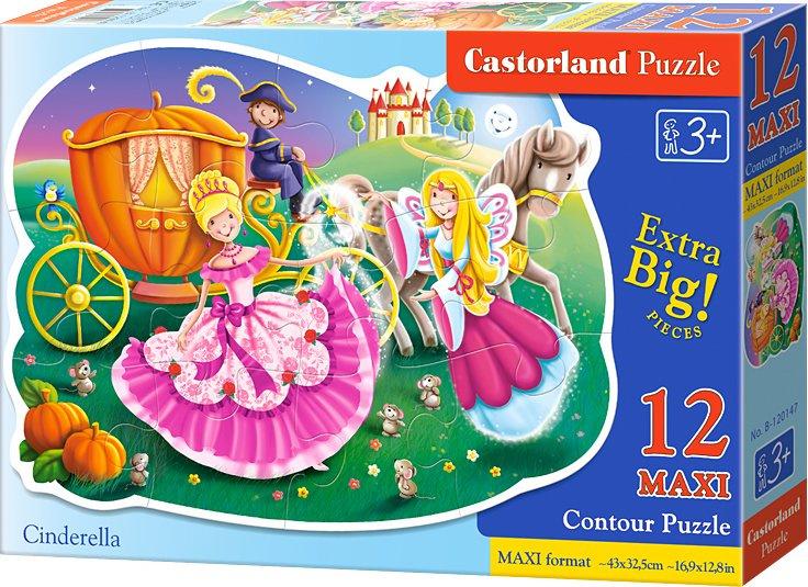 Puzzle Castorland Contour MAXI 12 dílků - Popelka v plesový šatech