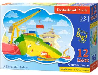 Puzzle Castorland Contour MAXI 12 dílků - Den v přístavišti